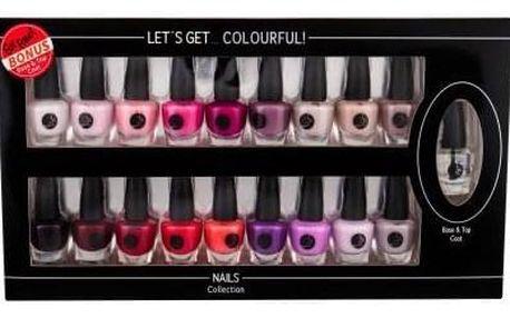 2K Let´s Get Colourful! dárková kazeta pro ženy lak na nehty 19 x 3,5 ml