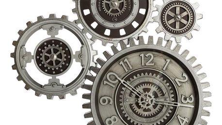 Emako Nástěnné hodiny složené ze čtyř ozubených kol, vyrobené z polystyrenu, ABS a skla