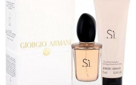 Giorgio Armani Sì dárková kazeta pro ženy parfémovaná voda 50 ml + tělové mléko 75 ml