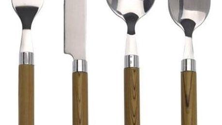 Koopman 24dílná sada příborů s dřevěnou rukojetí