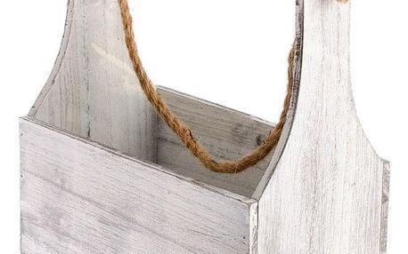 Dřevěná přepravka na zavěšení, 27 x 34 x 15 cm