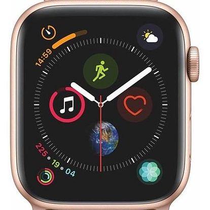 Apple Watch Series 4 GPS 44mm pouzdro ze zlatého hliníku - pískově růžový provlékací sportovní řemínek CZ verze (MU6G2HC/A)