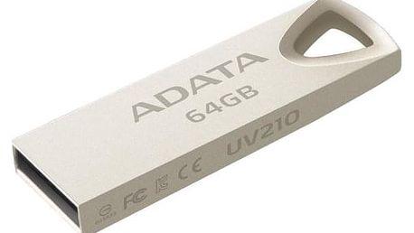 ADATA UV210 64GB kovová (AUV210-64G-RGD)