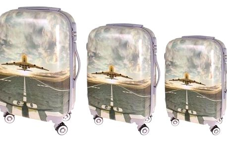 Sada 3 skořepinových kufrů (letadlo)