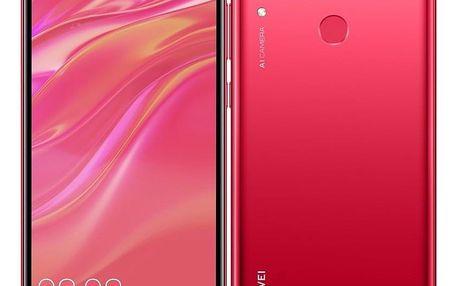 Mobilní telefon Huawei Y7 2019 Dual SIM červený (SP-Y719DSROM)