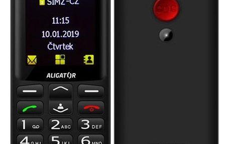 Mobilní telefon Aligator A700 Senior Dual SIM černý (A700B)