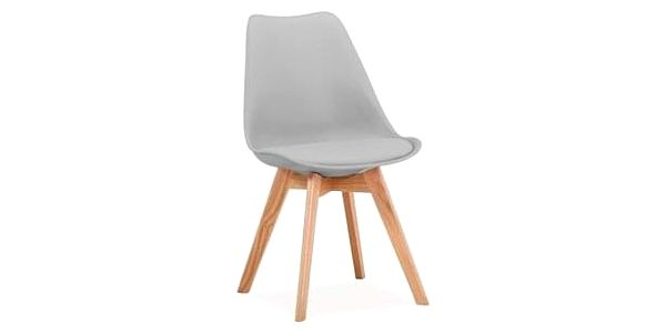 Jídelní židle KRIS buk/světle šedá2