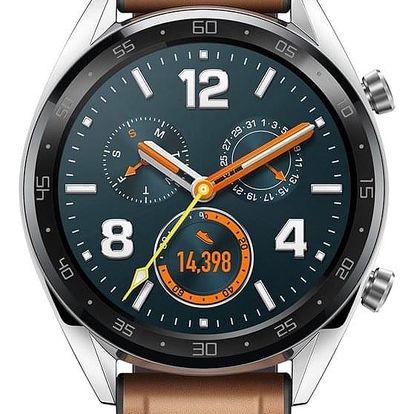 Chytré hodinky Huawei Watch GT Classic stříbrné (55023257)