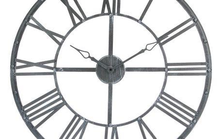 Emako Nástěnné hodiny z kovu, ciferník s velkými římskými číslicemi ve vintage stylu