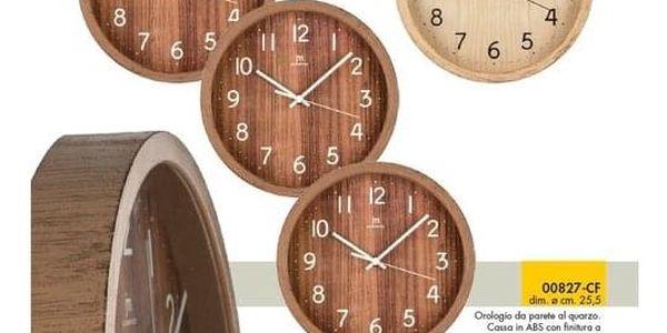 Lowell 00827F Designové nástěnné hodiny pr. 25 cm2