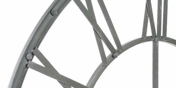 Emako Nástěnné hodiny z kovu, ciferník s velkými římskými číslicemi ve vintage stylu2