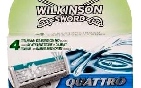 Wilkinson Sword Quattro Titanium Sensitive 4 ks sada náhradních hlavic pro muže