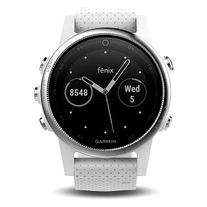 Garmin Fenix 5S stříbrné/bílé (010-01685-00)