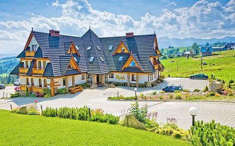 Polské Tatry v hotelu s polopenzí a neomezeným wellness