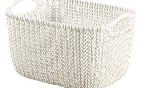 Curver Úložný box Knit 8 l, krémová