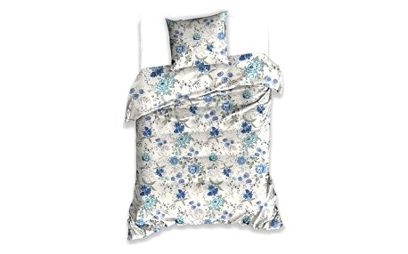 BedTex Bavlněné povlečení Blue Flowers, 140 x 200 cm, 70 x 90 cm