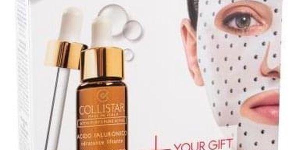 Collistar Pure Actives Hyaluronic Acid Serum + Hyaluronic Acid Mask dárková kazeta proti vráskám pro ženy pleťové sérum 30 ml + pleťová maska Micromagnetic Mask Hyaluronic Acid 1 ks