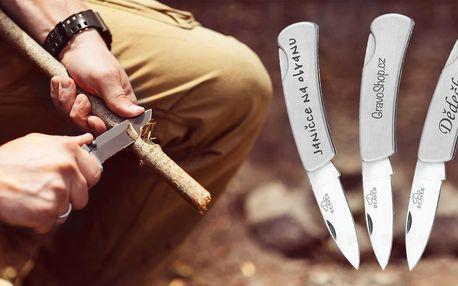 Zavírací nerezový nůž s vlastním textem