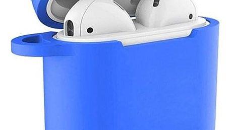 Celly Aircase pro Apple AirPods + nástavce do uší modré (AIRCASEBL)