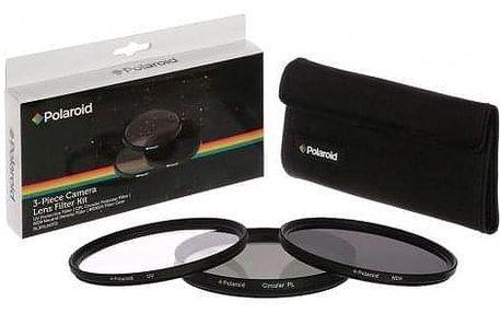 Polaroid 58mm (UV MC, CPL, ND9), set 3ks černý (PL3FILND58)