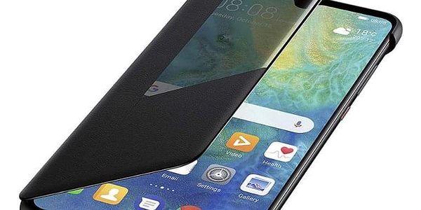 Pouzdro na mobil flipové Huawei View Cover pro Mate 20 černé (51992621)2