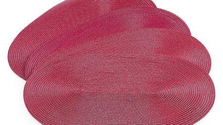 Jahu Prostírání Deco ovál červená, sada 4 kusů, 30x45 cm