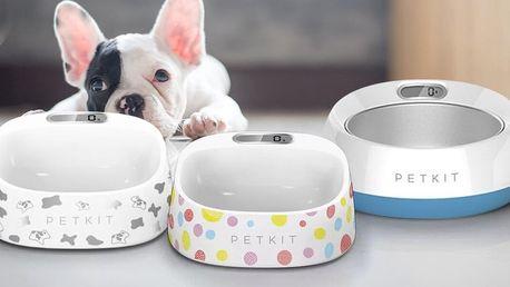 Designové misky s digitální váhou pro psy a kočky