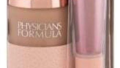 Physicians Formula Nude Wear Touch of Glow dárková kazeta pro ženy make-up 30 ml + kosmetický štětec 1 ks Light
