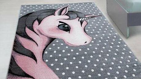 Vopi Kusový dětský koberec Kids 590 pink, 80 x 150 cm