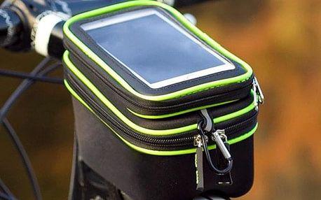 Cyklotaška s průzorem na mobil na rám kola - černá - dodání do 2 dnů