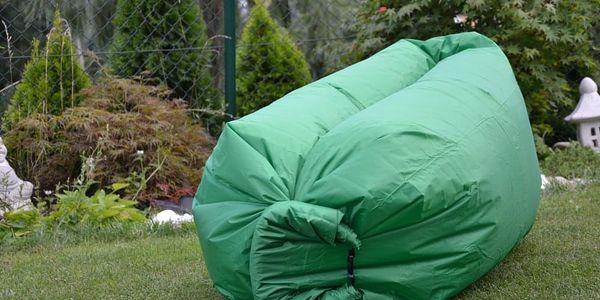 Sedací vak Lazy Bag HooUp dark green2