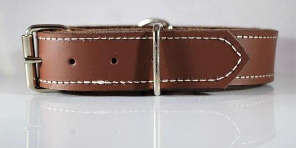 Prošívaný kožený obojek   Velikost: 2,5 cm x 35 cm   Bílá4