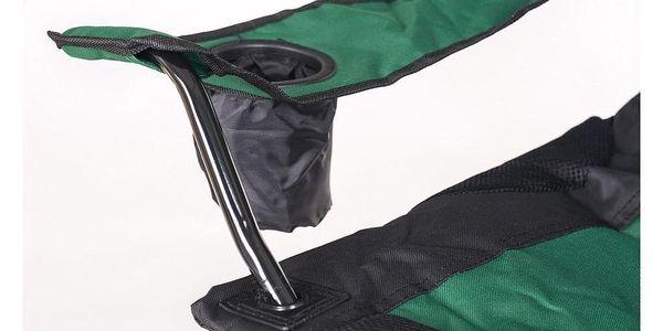 HAPPY GREEN Křesílko rybářské KORFU tmavě zelené5
