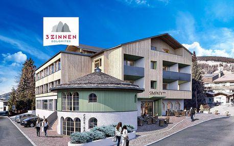 6denní Tre Cime se skipasem | Hotel Simpaty*** | Denní přejezd | Doprava, ubytování, polopenze a skipass