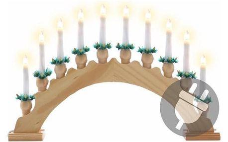 Nexos 5962 Vánoční dekorace - svícen s 10ti LED diodami