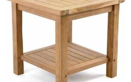 Divero 47267 Odkládací týkový stolek - 50 cm