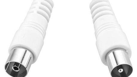 GoGEN 10m, rovný konektor bílý (COAX10MFM03)