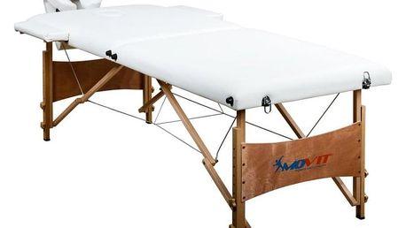 Movit Deluxe M01295 přenosné masážní lehátko bílé 185 x 80 cm