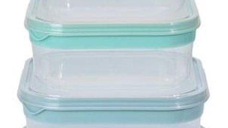 Koopman 5dílná sada čtvercových plastových dóz s víčkem