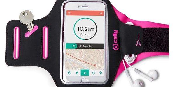 Pouzdro na mobil sportovní Celly Armband XXL růžové (ARMBANDXXLPK)3