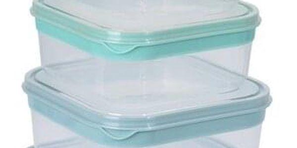 Koopman 5dílná sada čtvercových plastových dóz s víčkem2