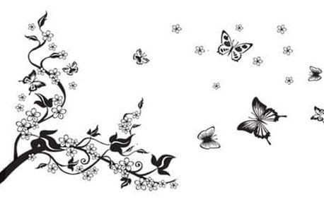 Samolepicí dekorace motýl,