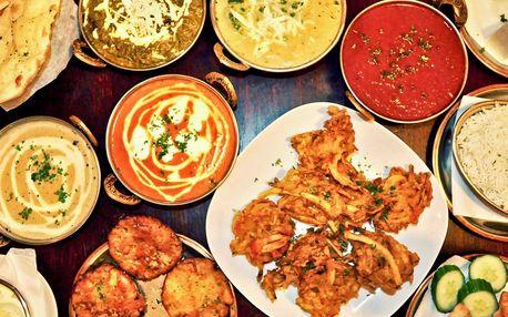 Autentické indické menu pro 2 nebo 4 os.