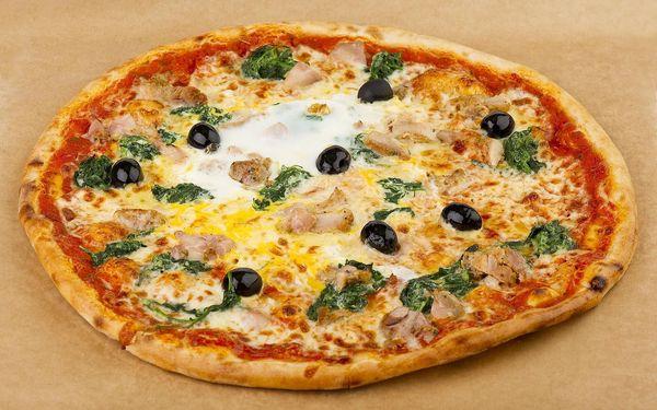 Pizza o průměru 32 cm + točený nápoj 0,3l5