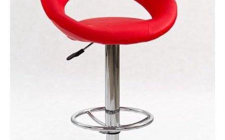 Barová židle H-15 červená