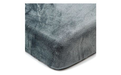 4Home Prostěradlo mikroflanel tmavě šedá, 90 x 200 cm