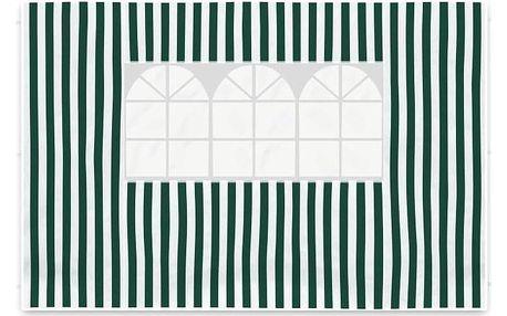 Garthen 420 Sada dvou bočních stěn pro zahradní stan - bílá/zelená