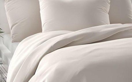 Kvalitex Saténové povlečení Luxury Collection bílá, 140 x 220 cm, 70 x 90 cm