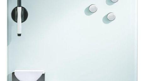 Skleněná magnetická tabule MEMO + 3 magnesy, 40x40 cm, ZELLER