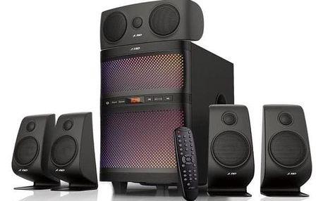 Fenda F&D F5060X 5.1, bluetooth, rádio, USB, SD, dálkové ovládání černé (F5060X)